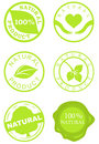 Set of natural product stamps Royalty Free Stock Photo