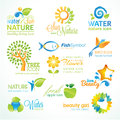 Set of  nature icons Royalty Free Stock Photos