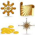 Set of  the nautical icons Royalty Free Stock Photography
