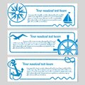 Set of nautical themed banners Royalty Free Stock Photo