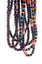 Set of necklace colorful fashionable Royalty Free Stock Photo