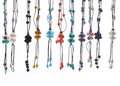 Set of necklace colorful fashionable Stock Image