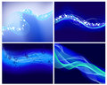 Set of neon glow backgrounds Royalty Free Stock Photography