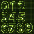 Set of neon numbers Royalty Free Stock Photos