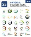 Set of new universal business logos Royalty Free Stock Photo