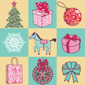 Set new year vector christmas Stock Image