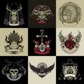 Set Of Nine Art Label