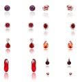 Set of the nine pairs of diamond earrings Royalty Free Stock Photo
