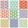 Set Of Nine Textured Natural Seamless Patterns Backgrounds