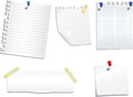 Set of note papers Royalty Free Stock Photo
