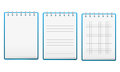 Set of notebooks Royalty Free Stock Photo