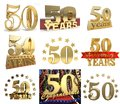 Set of number fifty years 50 years celebration design.