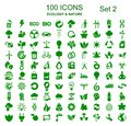 Set number two of 100 ecology icons - vector Royalty Free Stock Photo