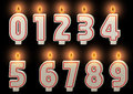 Numbered candles.