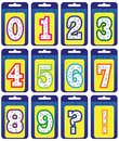 Set of numbers Stock Photo