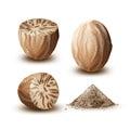Set of nutmegs