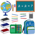 Set of objects for education in school. Royalty Free Stock Image
