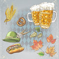 A set of objects to the oktoberfest Royalty Free Stock Photography