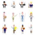 Set of occupation icons vector illustration Royalty Free Stock Image