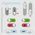 Set of ON/OFF switch buttons and rollovers Stock Images