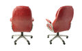 Set of Office chair over isolated white background Royalty Free Stock Photo