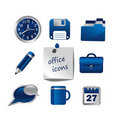 Set of office icons, . Stock Image