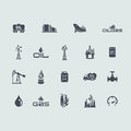 Set of oil and gas icons Royalty Free Stock Photo