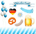 Set of oktoberfest design elements vector illustration Royalty Free Stock Photos
