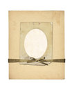 Set of old archival papers and vintage postcard isolated Royalty Free Stock Photo