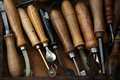 Set of old hand tools Royalty Free Stock Photo