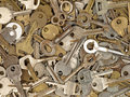 Set of old metal keys. Royalty Free Stock Photography