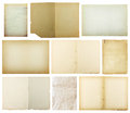 set of old paper isolated on white background , with clipping path Royalty Free Stock Photo