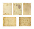 Set of old photo paper texture isolated on white background Royalty Free Stock Image