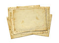 Set of old photo paper texture isolated on white background Royalty Free Stock Photo