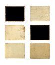 Set of old photo paper texture isolated on white background Stock Images