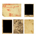 Set of old photo paper texture isolated on white background Royalty Free Stock Images