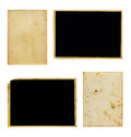 Set of old photo paper texture isolated on white background Stock Image