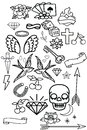 Set - old school cheek stickers