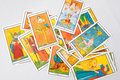 Set of old tarot cards Royalty Free Stock Photo
