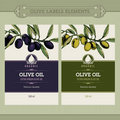 Set of olive oil labels Stock Image