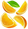 Set of oranges isolated on the white background Royalty Free Stock Photo
