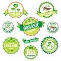 Set of organic / bio / natural logos and badges Stock Photography
