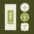 Set of organic labels, badges, stickers, packaging design elements. Royalty Free Stock Photo