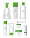 Set of Organic Series Cosmetic Royalty Free Stock Photo