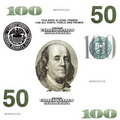 Set of original detail dollars isolated Royalty Free Stock Photography