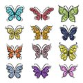 Set of ornamental butterflies for your design Royalty Free Stock Photo