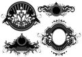 Set of ornamental elements four different forms this illustration may be useful as designer work Stock Images