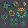 Set of ornamental floral elements for design vintage Royalty Free Stock Photos
