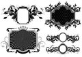 Set of ornamental frames different shapes this illustration may be useful as designer work Royalty Free Stock Photos