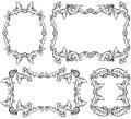 Set of ornamental frames four shields this illustration may be useful as designer work Stock Photography